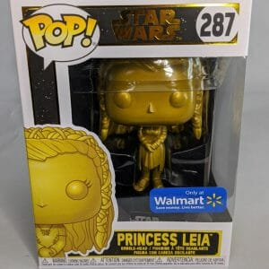 star wars walmart exclusive gold princess leia