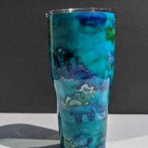 30 oz tumbler inspired by the mediterranean sea