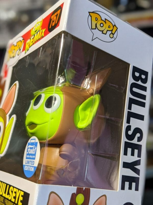 Up close of Bullseye limited edition Pop