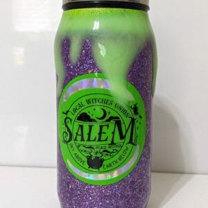 Witches Union Tumbler - purple glitter green drips
