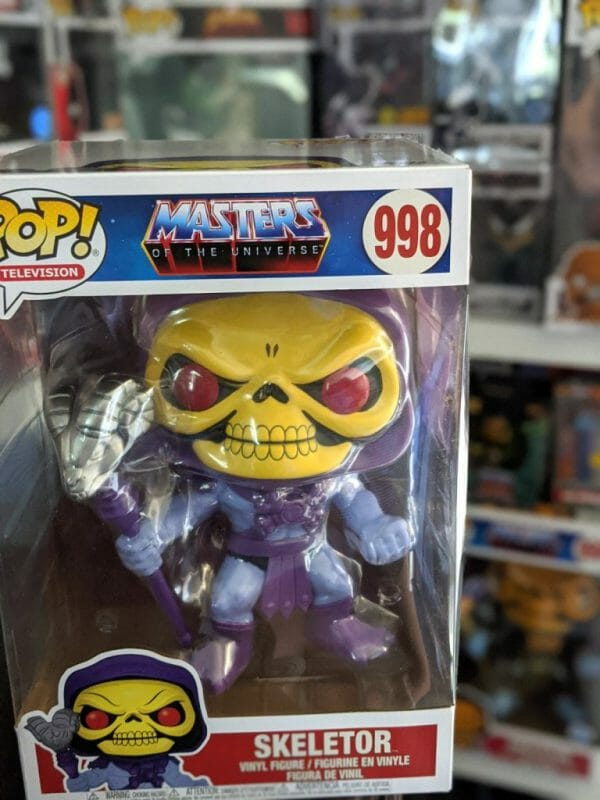 "10"" Skeletor Funko Pop in box"