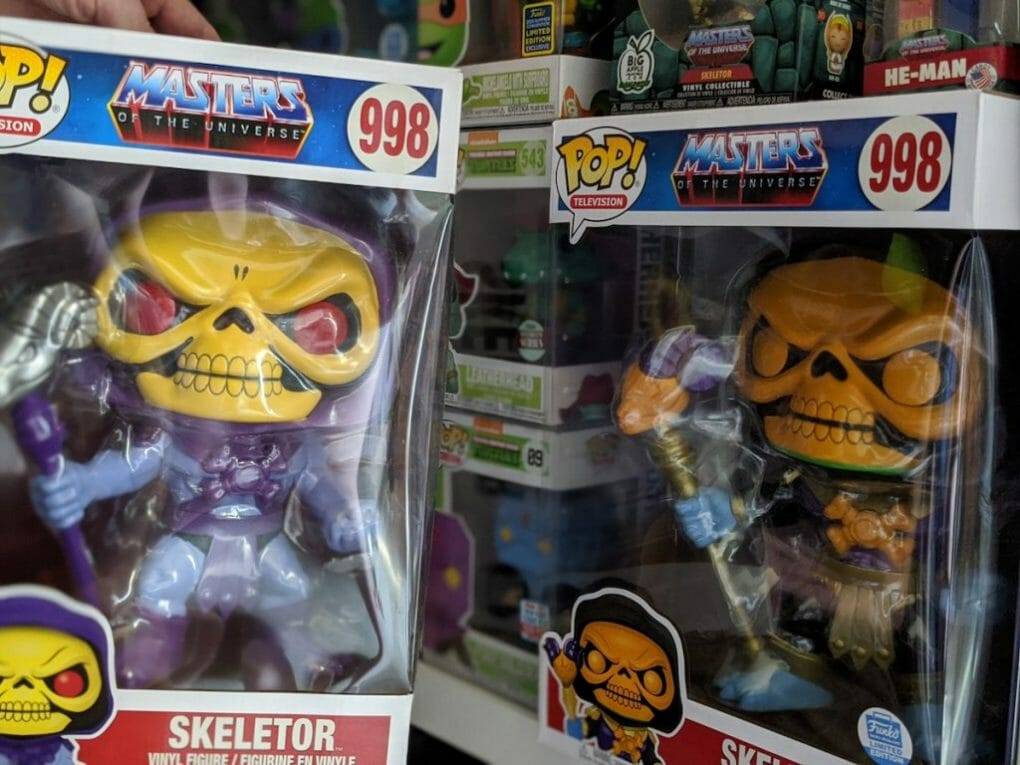 "10"" Skeletor collection side by side"