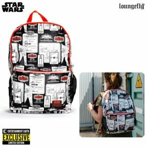 loungefly nylon backpack ee exclusive star wars