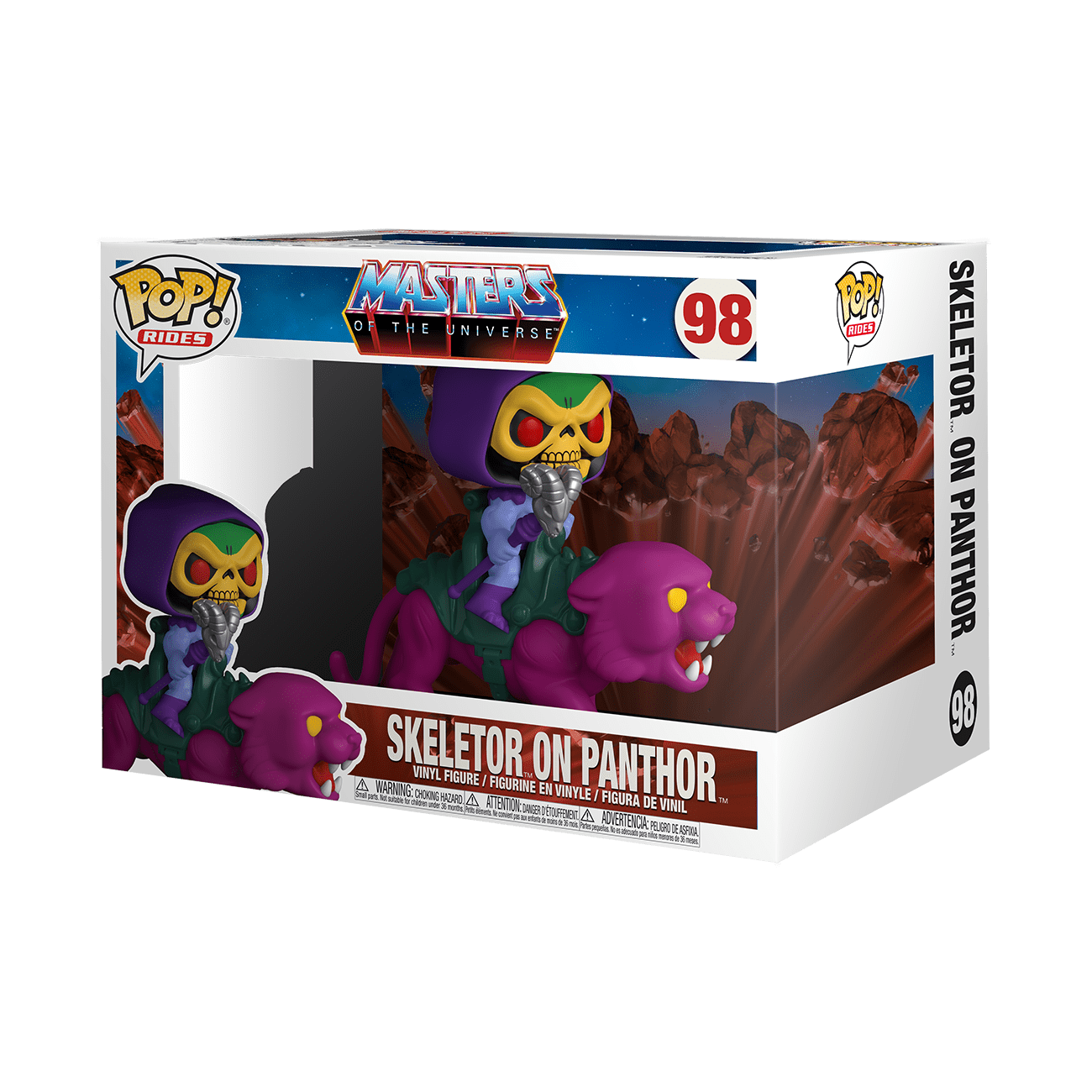 masters of the universe skeletor on panther funko pop!