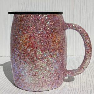 Glittered stainless steel mug