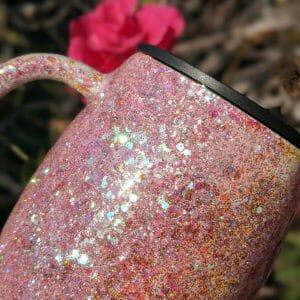 Blush glitter mug
