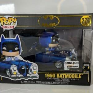 metallic batmobile 1950 batman funko pop!