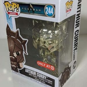 target exclusive arthur curry gold chrome funko