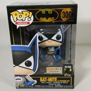 bat-mite metallic box lunch funko pop!