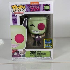 invader zim with minimoose funko pop!