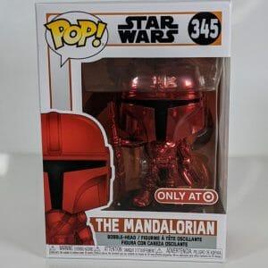 red chrome mandalorian funko pop!
