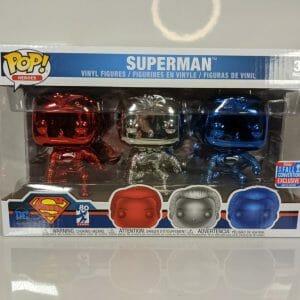 chrome superman 3 pack funko pop!
