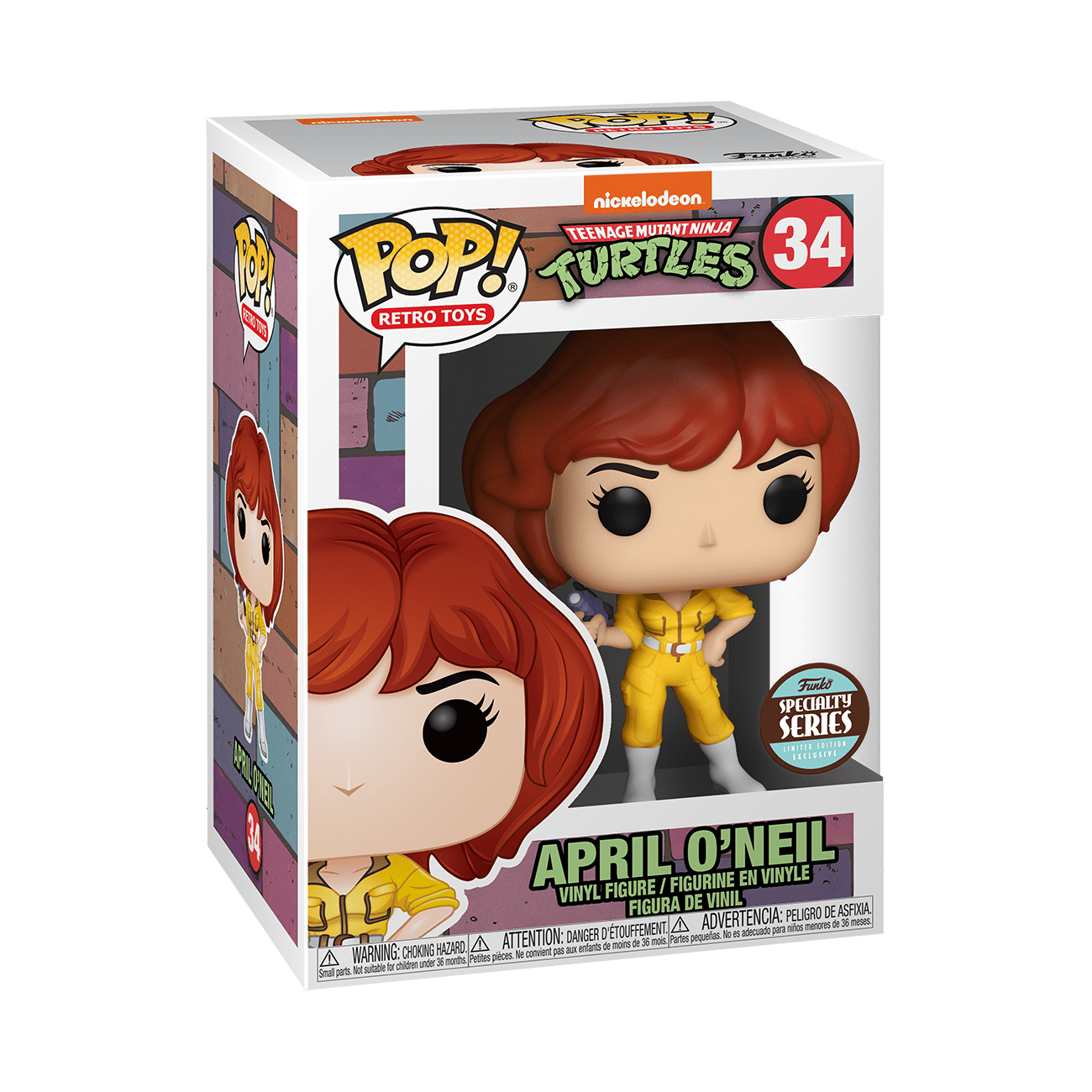 tmnt april oneil specialty series funko pop!