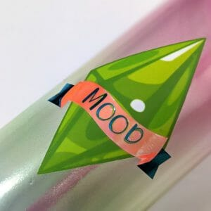 upclose of plumbob mood tumbler