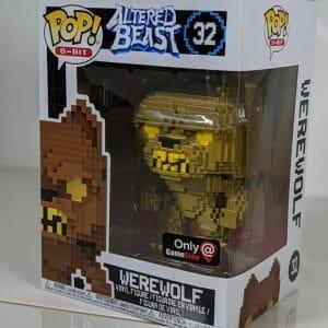 gold 8-bit werewolf funko pop!