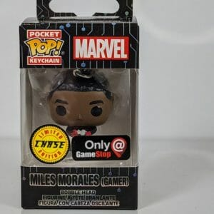 miles morales gamer chase pop! keychain