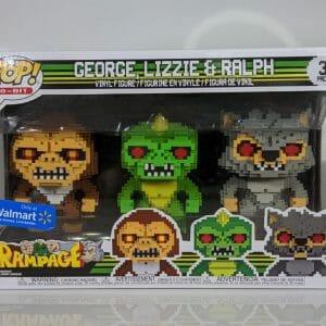 rampage george, lizzie, ralph funko pop!
