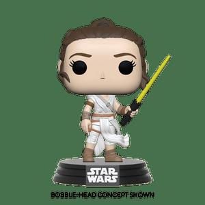 star wars rey with light saber funko pop!