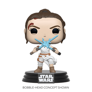 star wars rey with two sabers funko pop!
