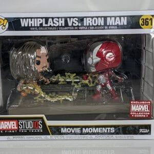 whiplash vs iron man funko pop!