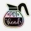 pot head coffee sticker