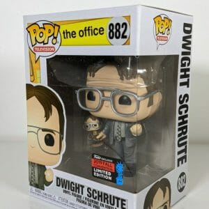 the office dwight schrute with bobblehead funko pop!