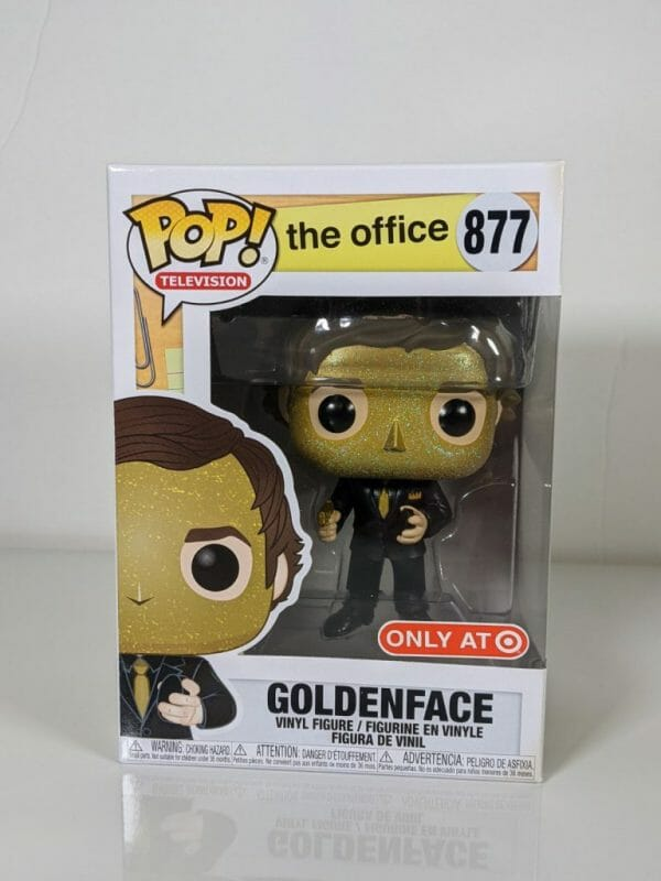 goldenface the office yellow funko pop!