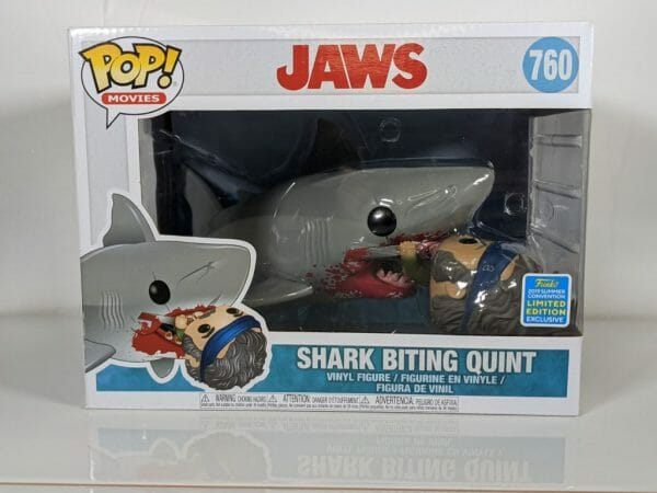 jaws shark biting quint funko pop!