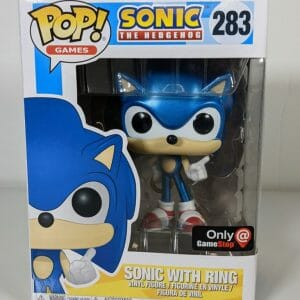 sonic with ring metallic funko pop!
