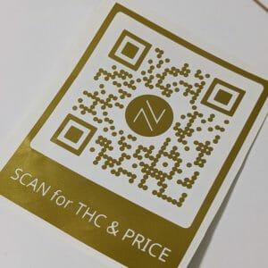 Vinyl QR Code in gold for NUG