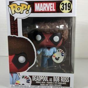 deadpool as bob ross funko pop!