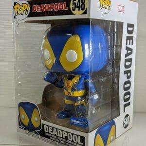 deadpool 10 inch blue yellow funko pop!