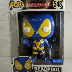 deadpool blue/yellow funko pop!