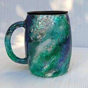 Monterey Blue glitter tumbler