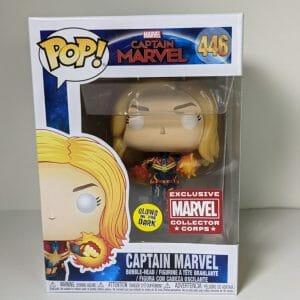 Captain marvel gitd funko pop!