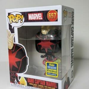 marvel dark captain marvel funko pop!