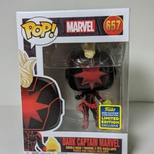 dark captain marvel funko pop!