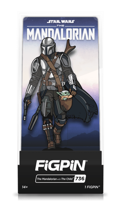 the mandalorian figpin with the