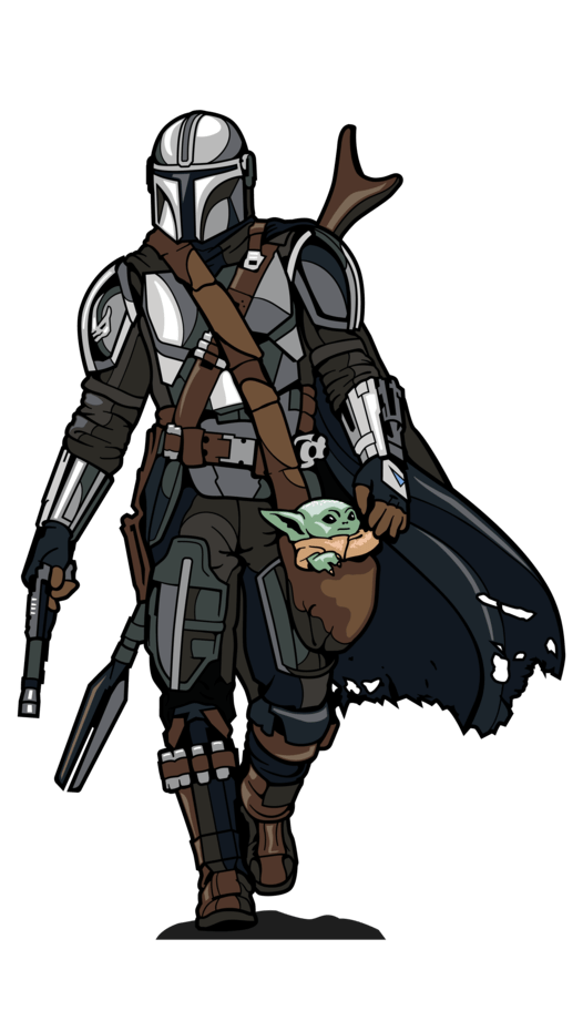 the mandalorian with the child figpin 2
