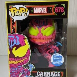 carnage black light funko pop!