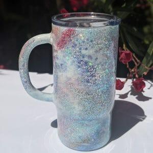 stainless steel sunset travel mug
