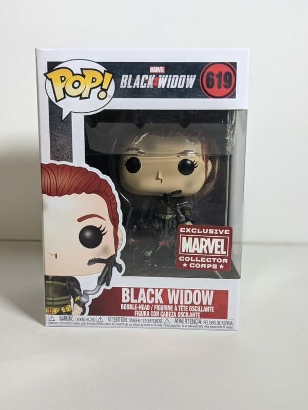 black widow battle damaged funko pop!