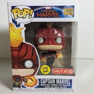 captain marvel flying gitd funko pop!