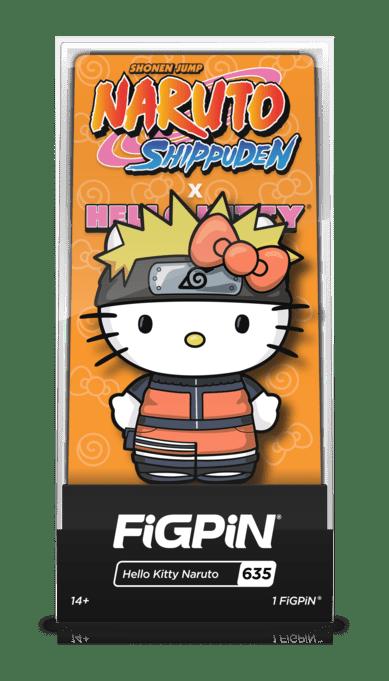 naruto hello kitty figpin