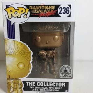 the collector gold funko pop!