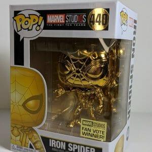 gold chrome iron spider funko pop!