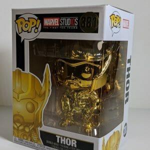 gold chrome thor funko pop!