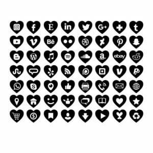 vinyl social media images heart shape