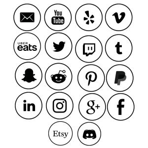 Circle vinyl social media images