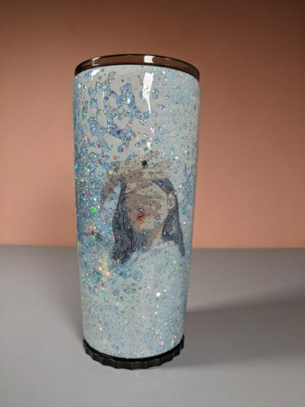 Head in the clouds and loving it stainless steel resin tumbler made in California